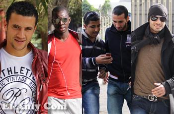 شاهد عمرو دياب والنيجيري المجهول وظاهيجول يداعب عدسات El-Ahly.com