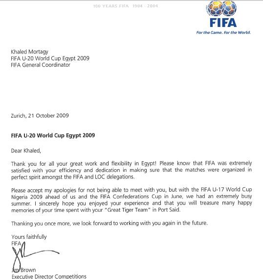 """بصورة الخطاب : الفيفا يشكر مرتجي لمجهوداته مع """"فريق النمور"""" في مونديال الشباب 16383-khaled"""